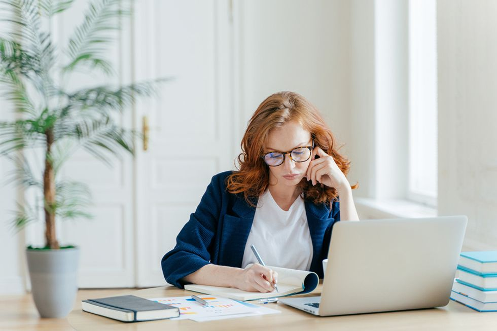 Professional woman learning how to create a great personal brand