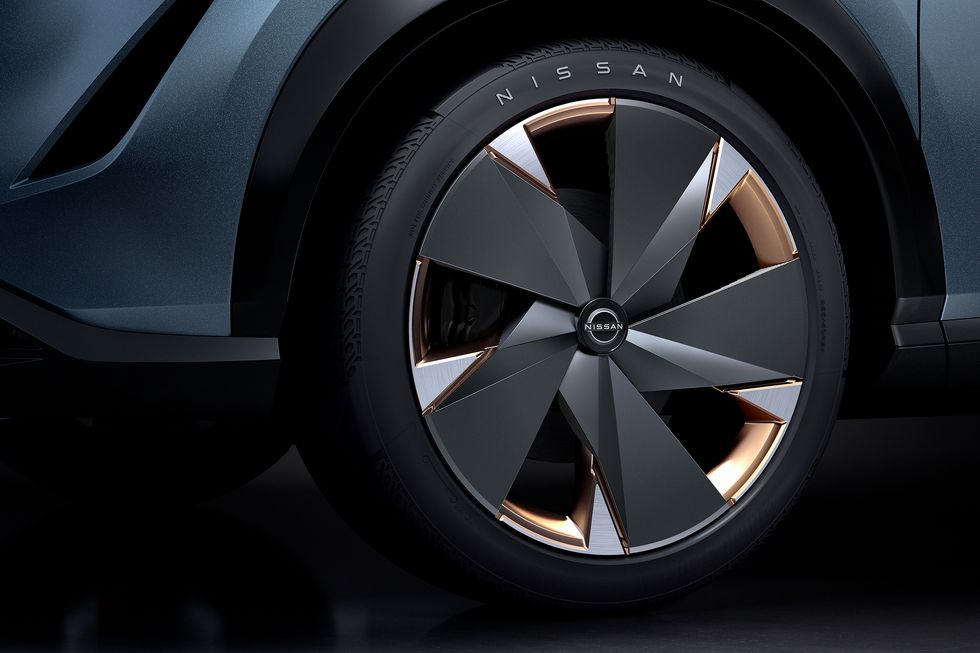 Nissan Ariya Concept wheel copper