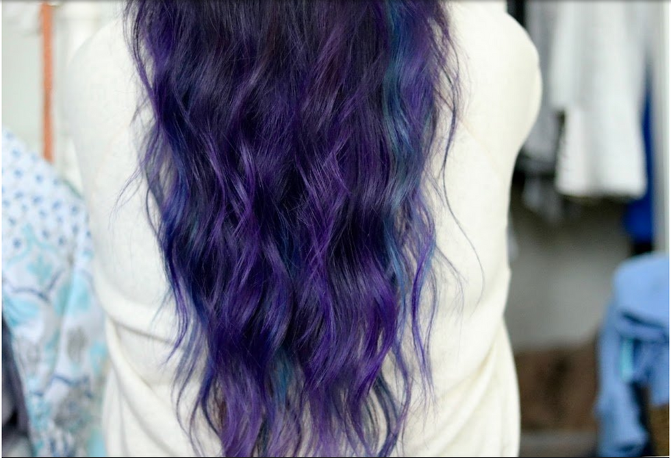 I'm The Girl With Purple Hair And I Dye It To Express Myself, Not To Make You Think I'm 'Edgy