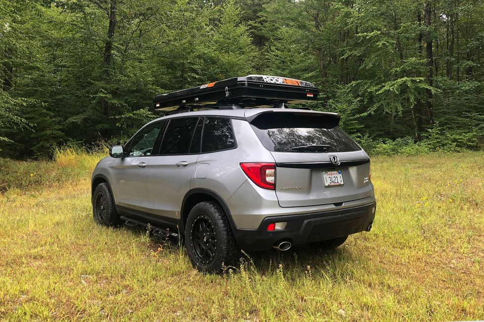 2019 Honda Passport Roofnest Sparrow stowed
