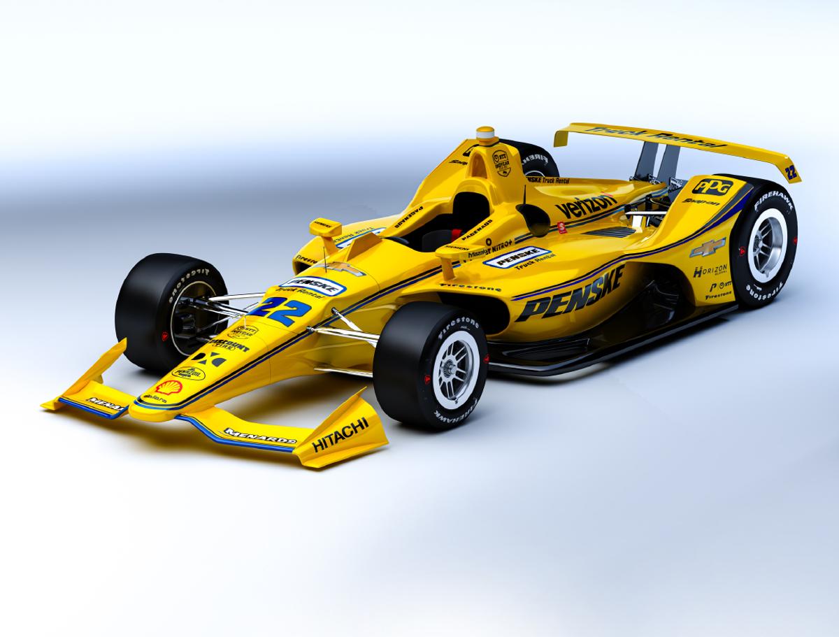 Simon Pagenaud Racing for Penske Truck Rental in IndyCar Series at Pocono