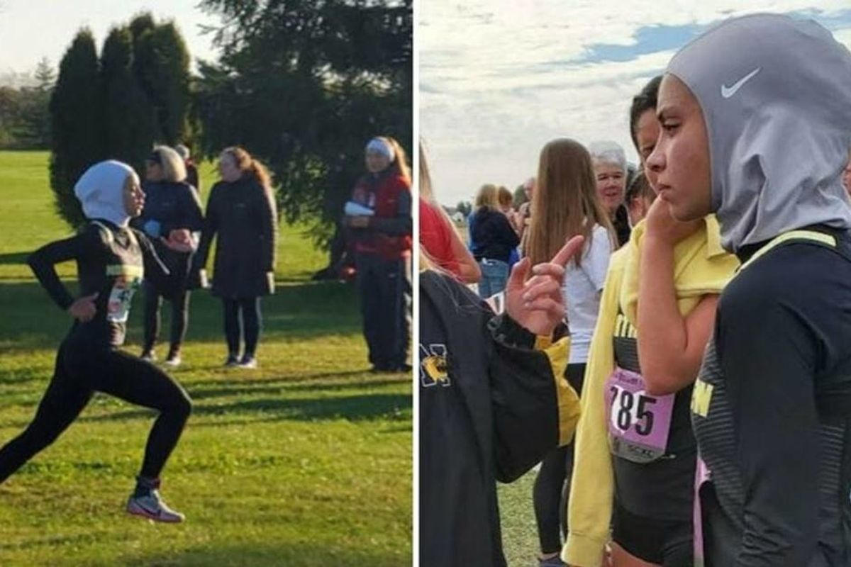 A Muslim high school runner was heartbroken after being disqualified for wearing a hijab