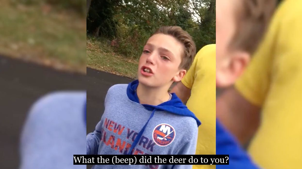 Man and his young son harass deer hunter in a tearful, profanity-laced, and utterly bizarre video