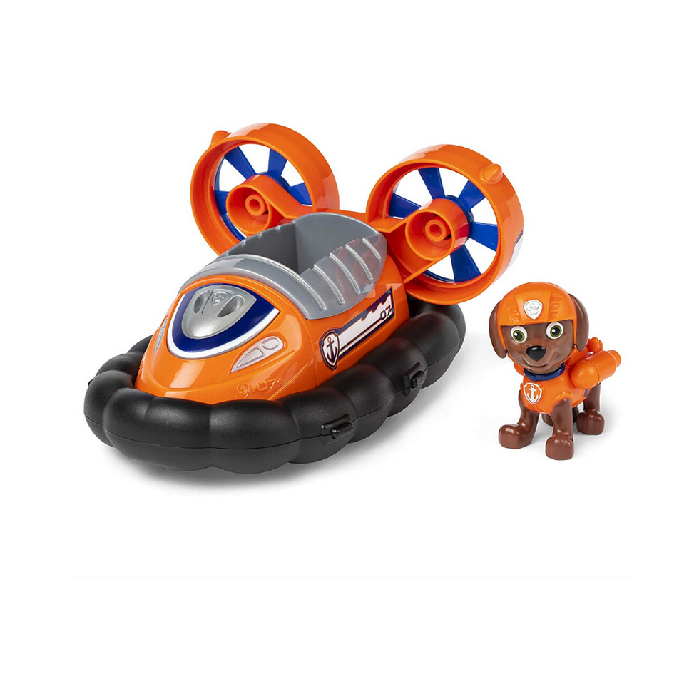 Paw Patrol, Zuma\u2019s Hovercraft Vehicle with Collectible Figure, for Kids Aged 3 and Up