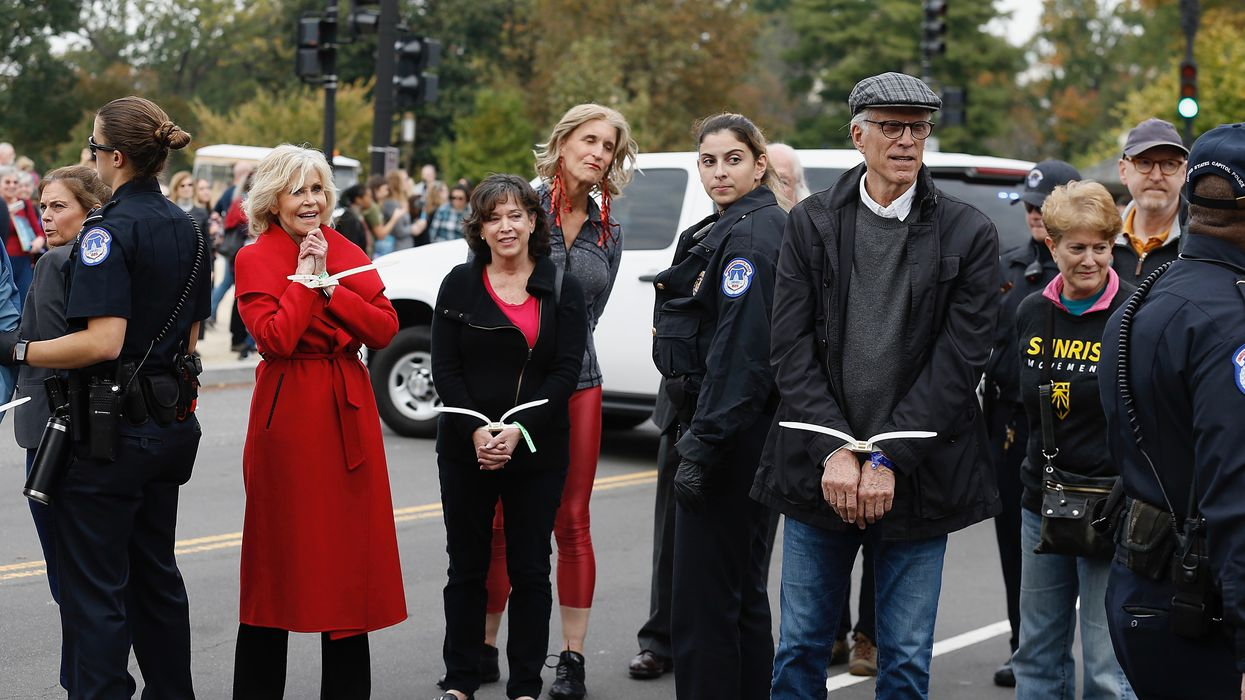 Ted Danson Joins Jane Fonda at Climate Crisis Protest. Both Are Arrested