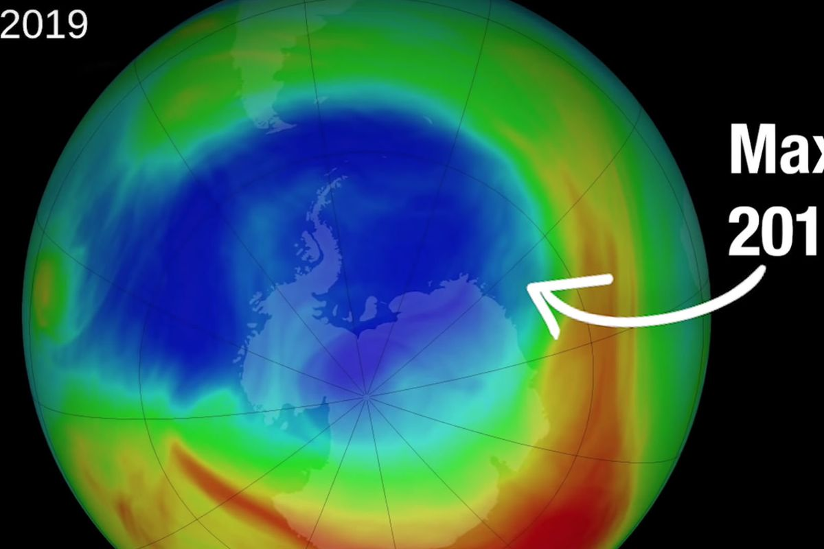The hole in the ozone layer is smaller than ever, NASA says