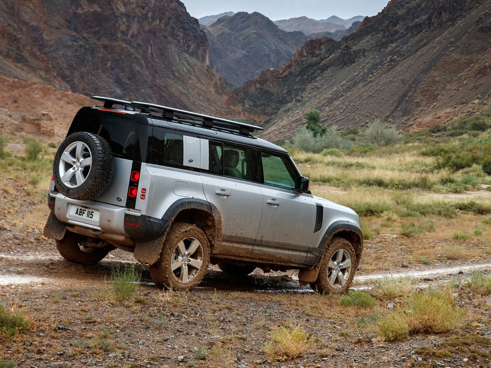 2020 Land Rover Defender off-roading trail