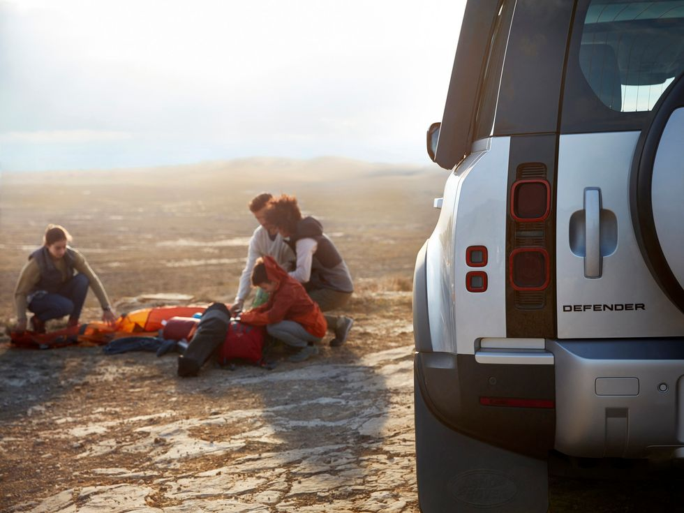 Land Rover Defender lifestyle camping