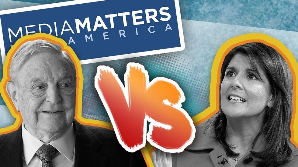Partner Content - MEDIA MATTERS VS NIKKI HALEY: George Soros funded team TWISTS Haley comm...