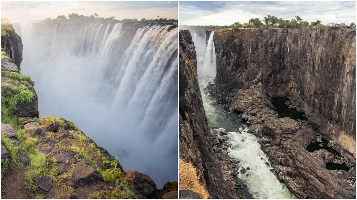 Victoria Falls Dries Drastically After Worst Drought in a Century