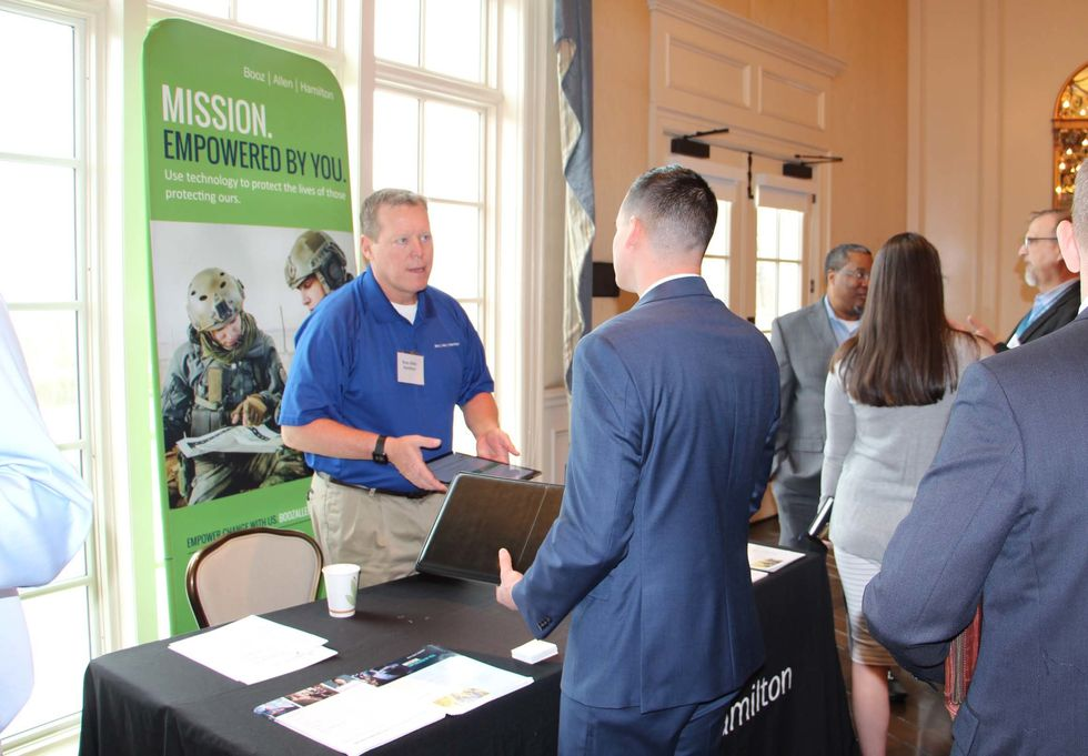 Officials at Booz Allen Hamilton put a lot of emphasis on recruiting individuals with military experience.