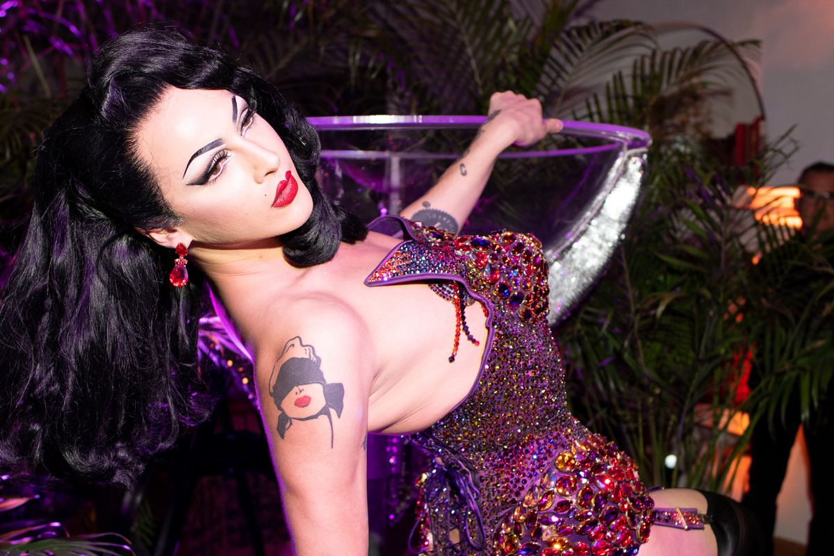 Violet Chachki Straddled a Life-Size Martini to Celebrate Her Fragrance