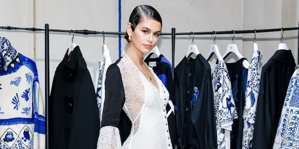 Kaia Gerber Experimented With Finger Waves to Celebrate Loewe