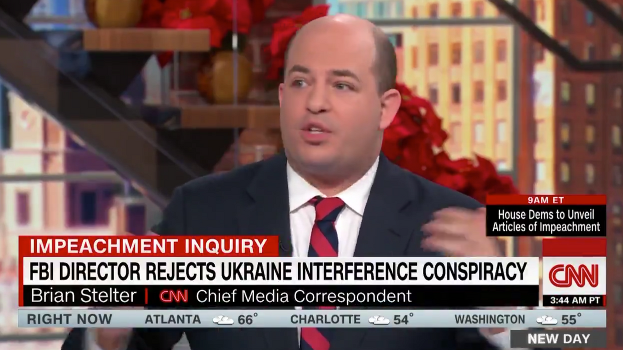 CNN's Brian Stelter's lack of self-awareness in segment on FBI Director Wray is cringeworthy