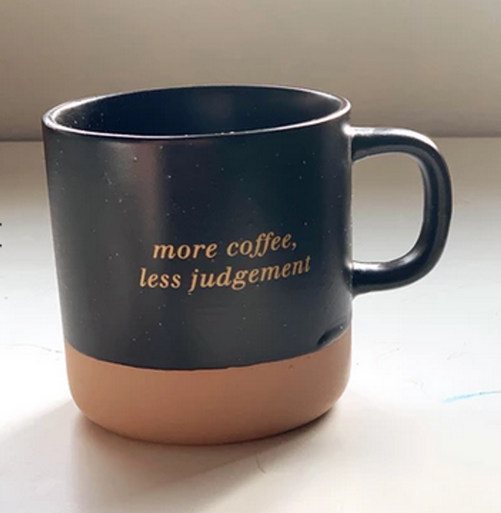 More Coffee, Less Judgement ceramic mug