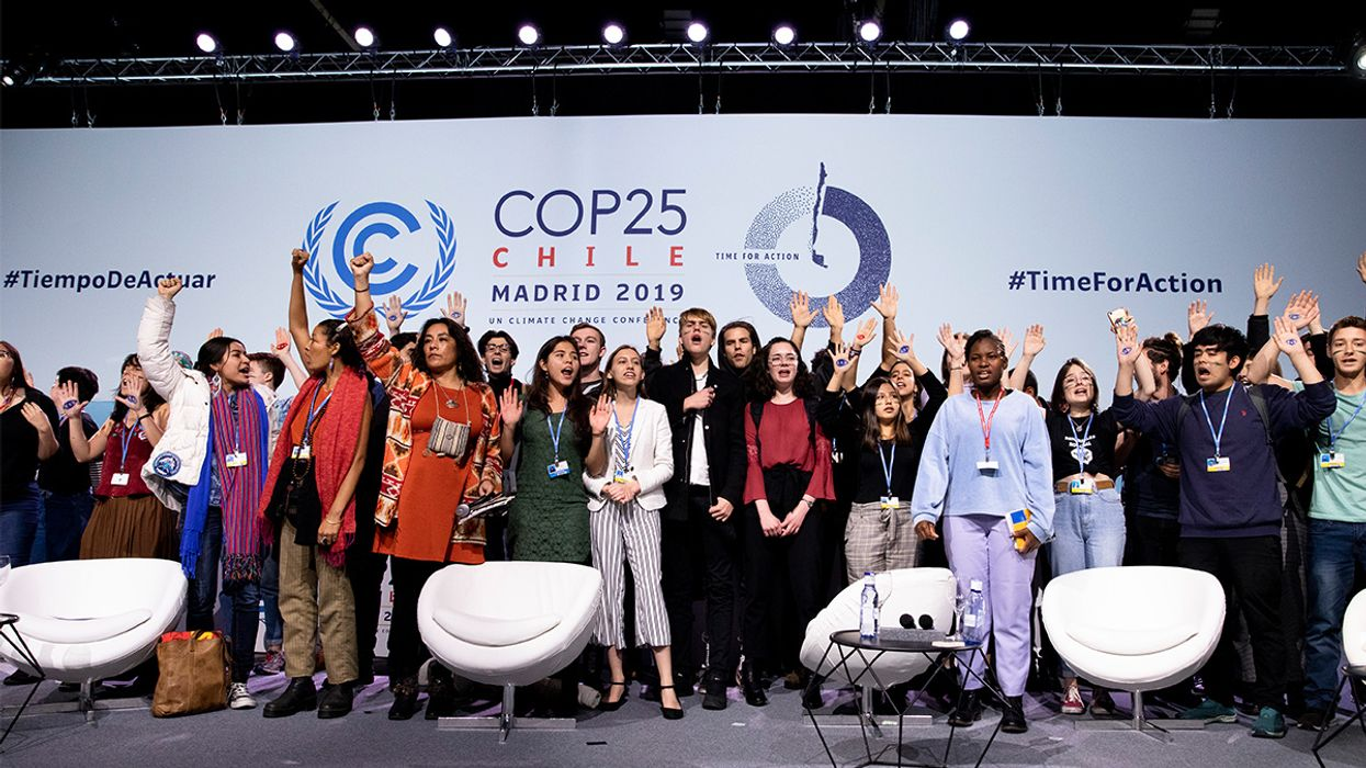 Youth Climate Activists Storm COP25 Stage