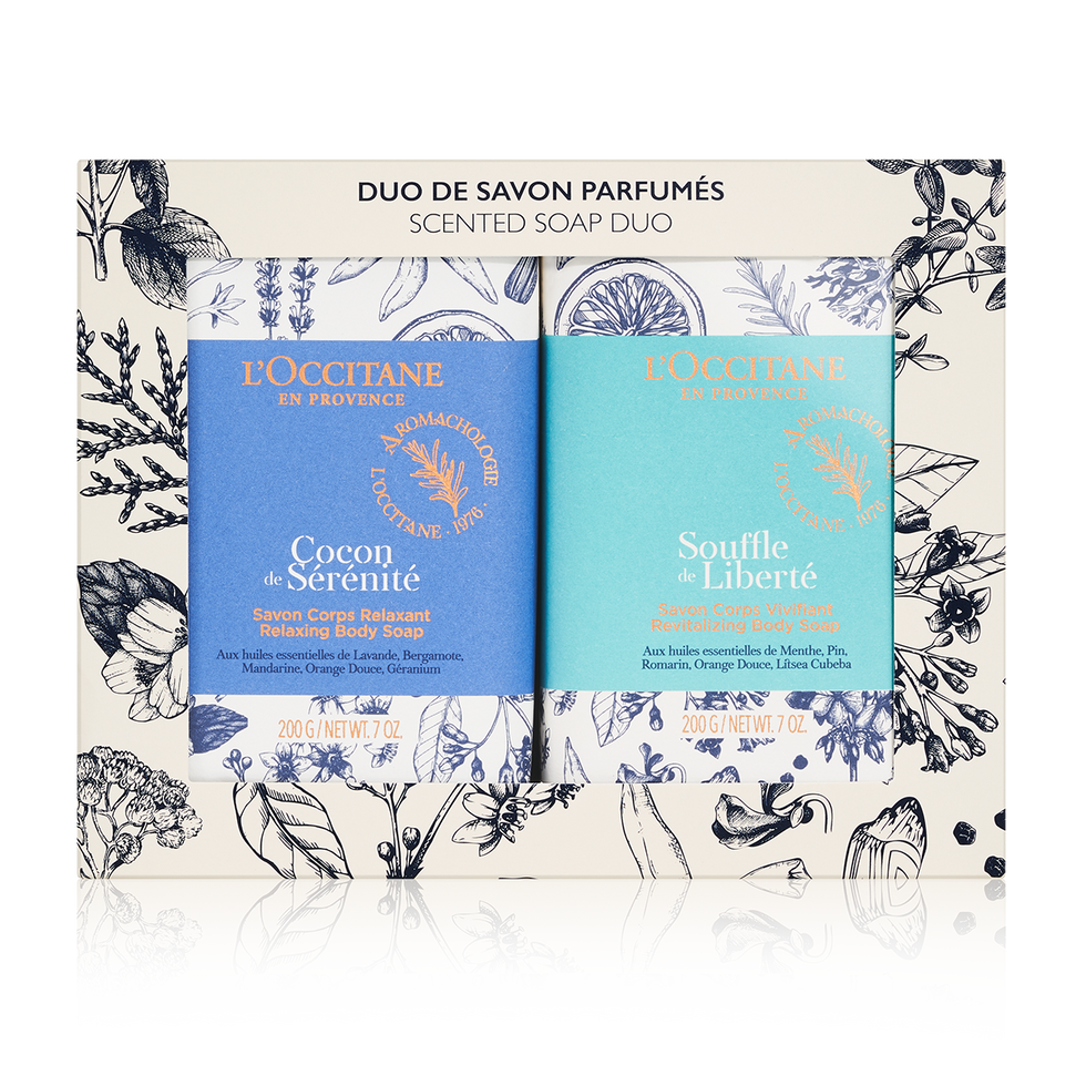 Lu2019Occitane scented soap duo