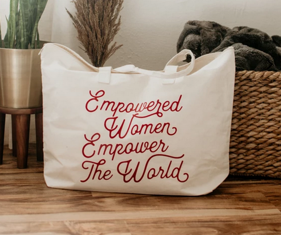 Empowered Women canvas tote bag