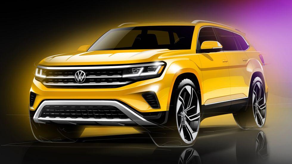 2021 Volkswagen Atlas render sketch