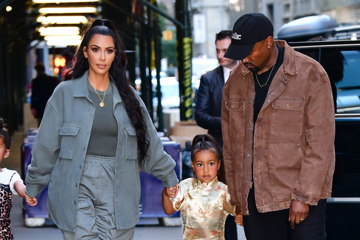 The Kardashian-Wests Wore Sweats for Their Christmas Card