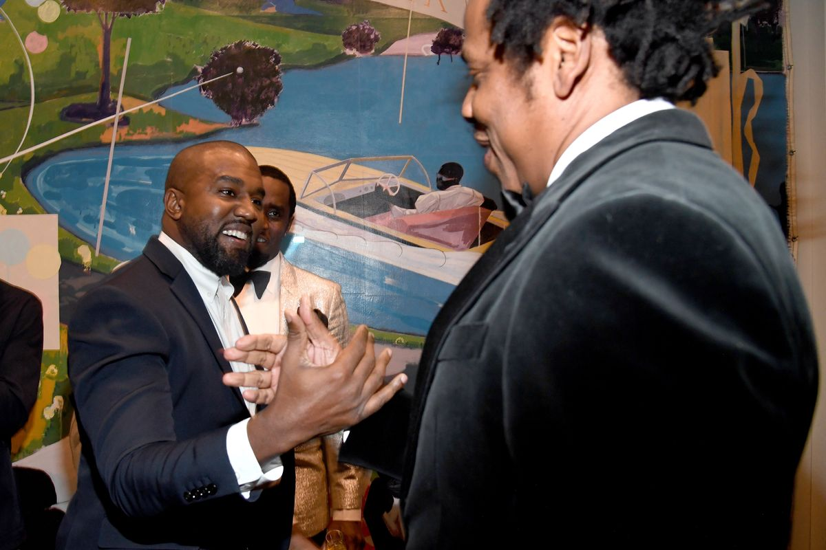Kanye West and Jay-Z Reunite on Diddy's Birthday