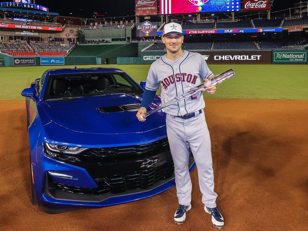Aaron Bregman MLB All-Star Game MVP Chevrolet Camaro