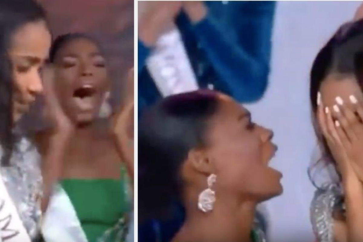 Miss Nigeria's reaction to Miss Jamaica being crowned Miss World has us all up in our feels