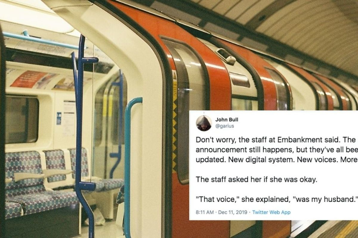 A unique voice at a London subway stop remains as an act of kindness to a grieving widow