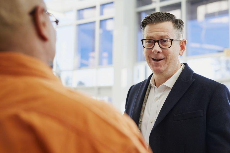 A job candidate negotiating his salary