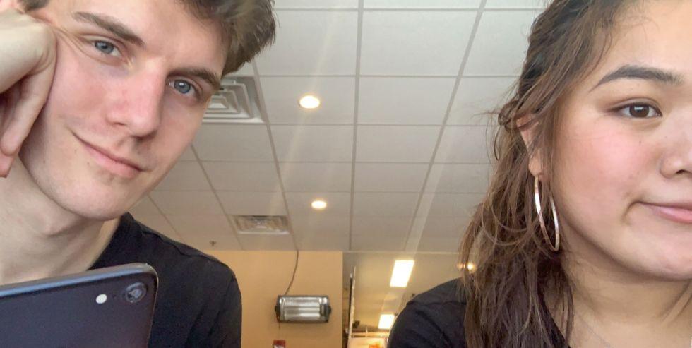 Selfie of boy and girl