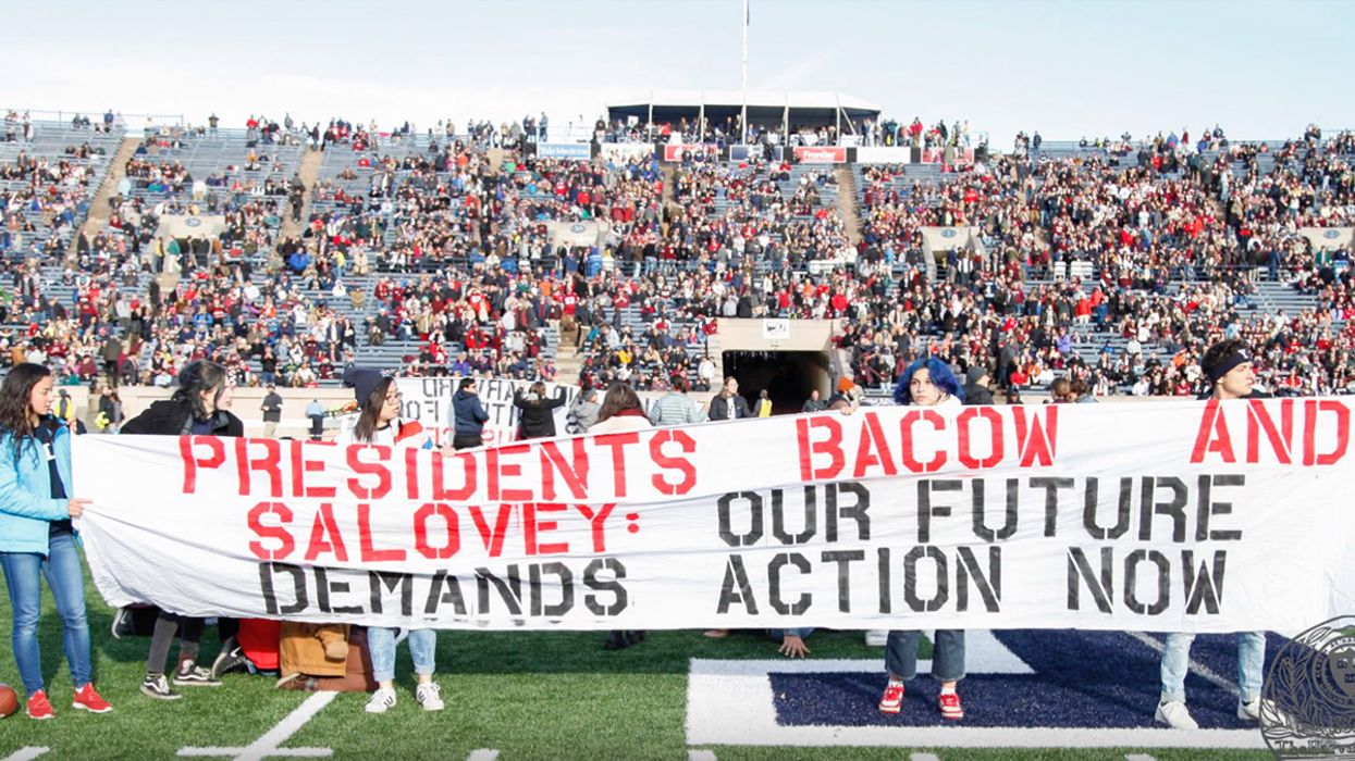 'Nobody Wins': Hundreds of Climate Activists Delay Harvard-Yale Football Game to Urge Fossil Fuel Divestment