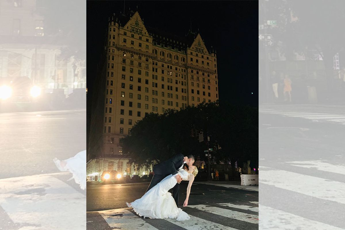 Couple didn't let the NYC blackout stop them from getting married