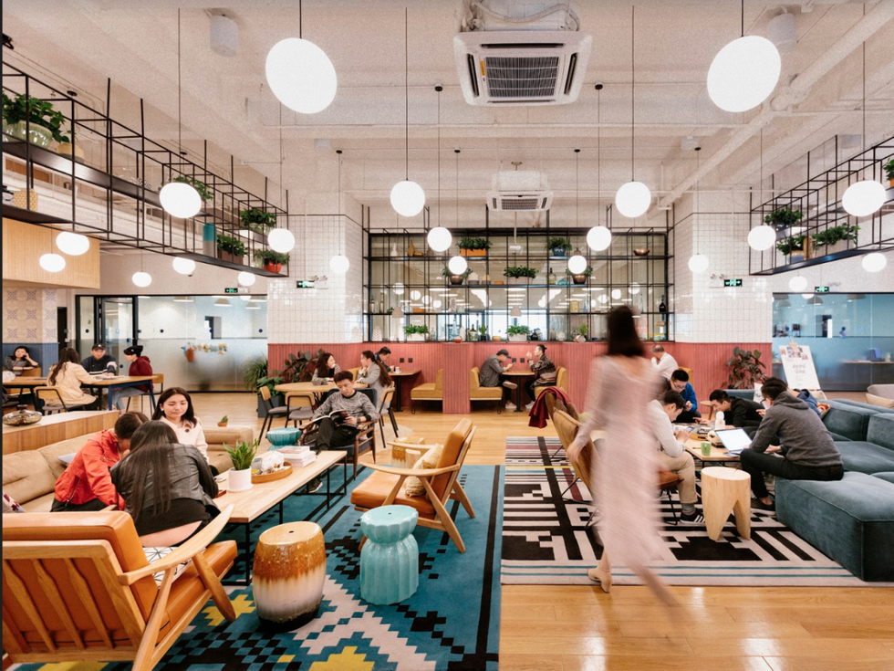 WeWork coworking downtown Houston