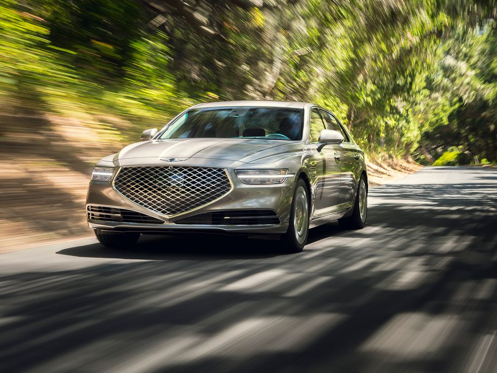 2020 Genesis G90 front face rear grille headlights