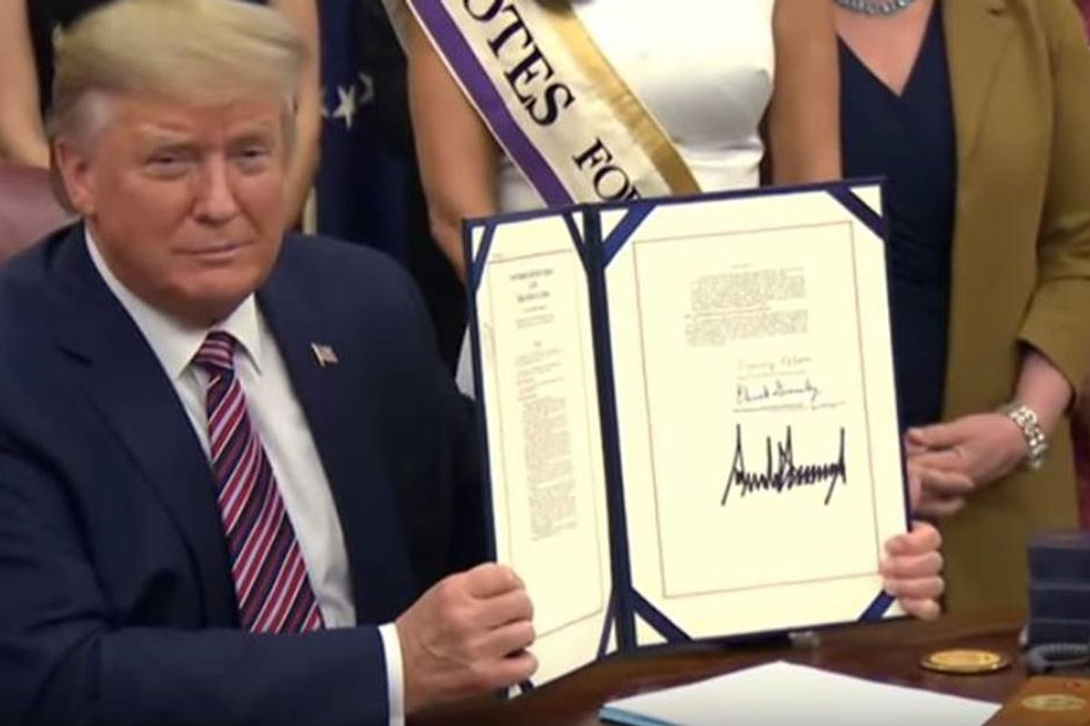Trump is baffled that the 100-year anniversary of women's suffrage didn't 'happen sooner'
