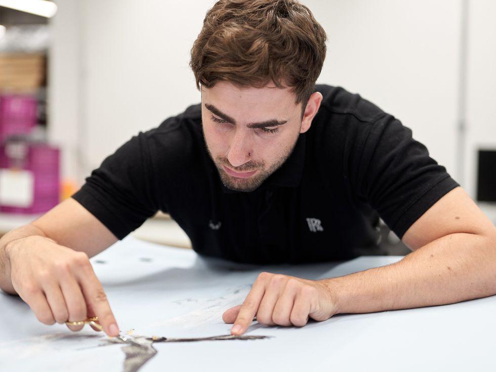 Josh Liles Rolls-Royce design embroidery