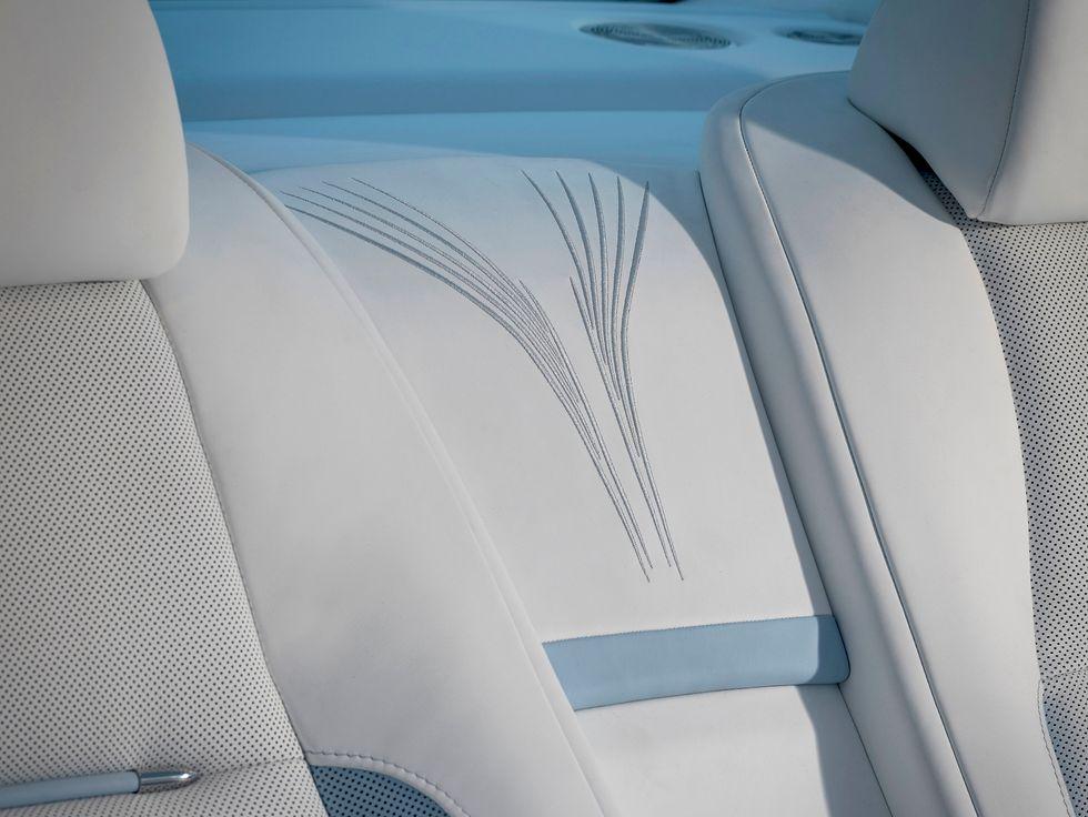 Rolls-Royce bespoke Wraith Peregrine Falcon embroidery