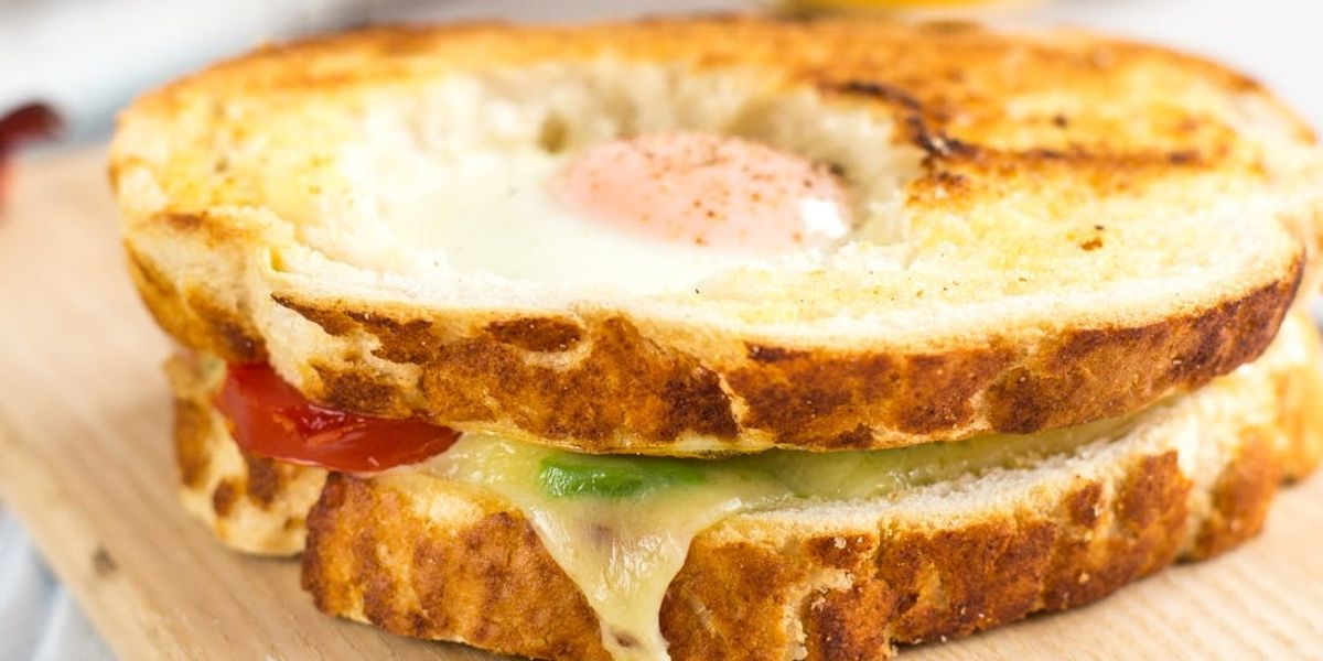 Spoil Your Mom With This Egg in a Hole Breakfast Sandwich Recipe