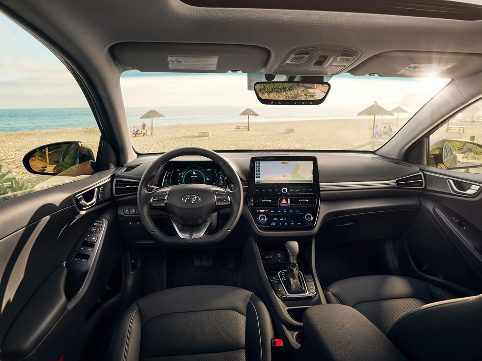 2020 Hyundai Ioniq interior screen shifter wheel