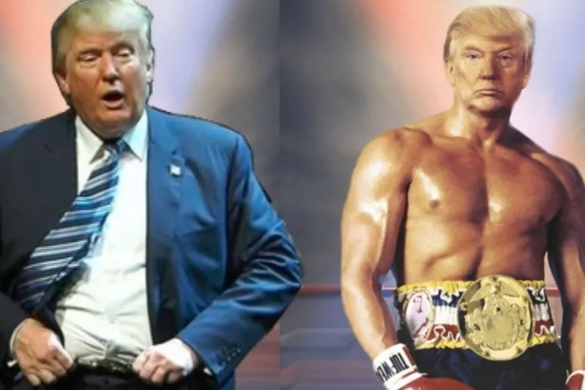 Trump posted a ridiculous meme of himself as Rocky and the responses are a unanimous TKO