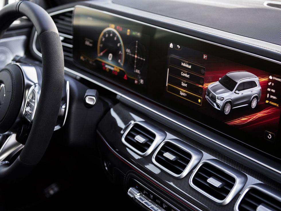 2021 Mercedes-AMG GLS 63 interior screen drive modes