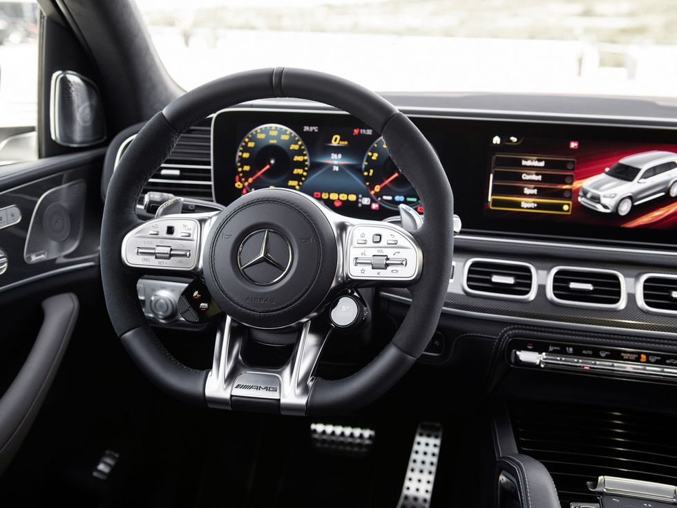 2021 Mercedes-AMG GLS 63 interior cabin drive modes