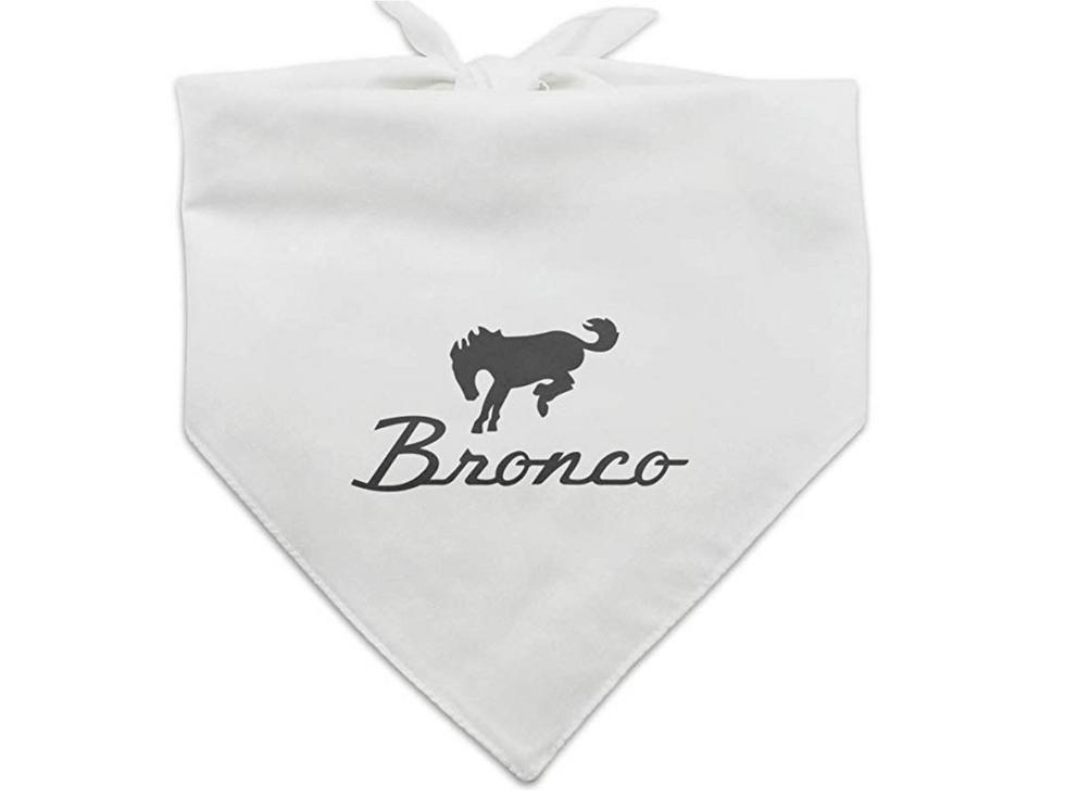 GRAPHICS & MORE Ford Bronco Chrome Logo Dog Pet Bandana