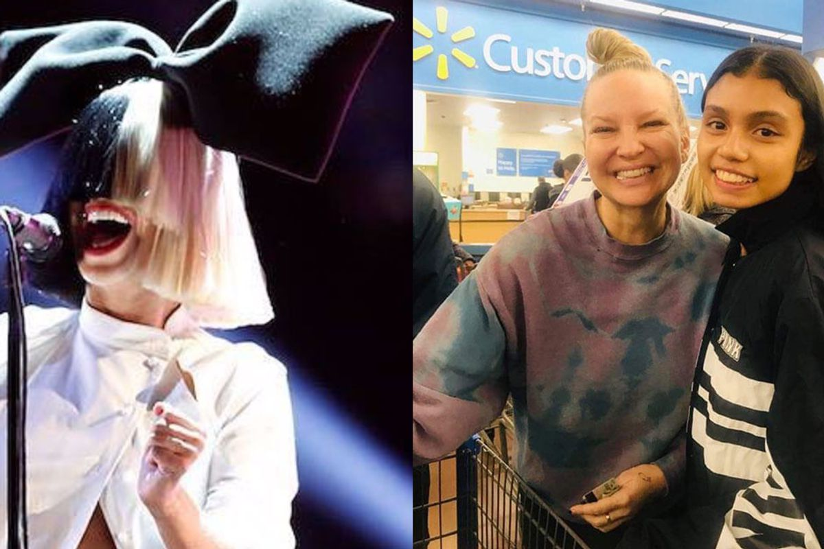 Sia lied about her identity, then paid for the groceries of everyone at a Walmart