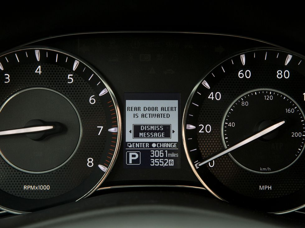 Nissan Armada instrument cluster driver information screen
