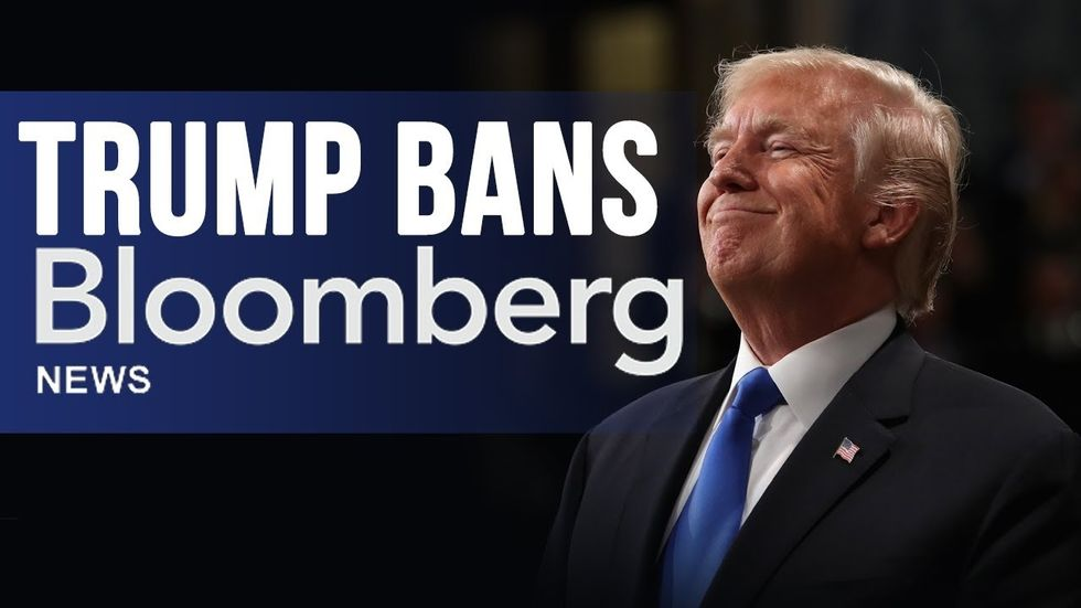 Partner Content - TRUMP CAMPAIGN BANS BLOOMBERG NEWS: 'Fake News' company says they will N...