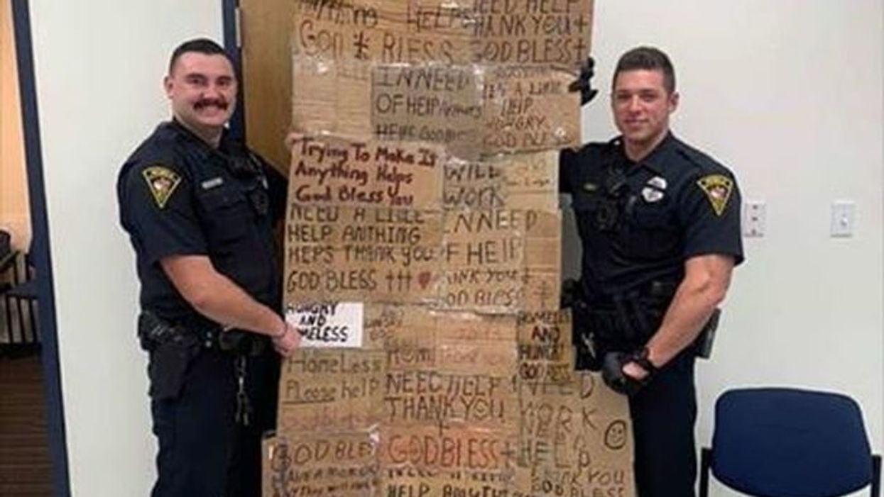 Cops make 'quilt' out of homeless signs. Is panhandling free speech?