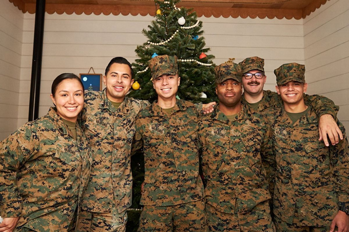 Many service members can't make it home for the holidays. Here's how their families are staying connected.