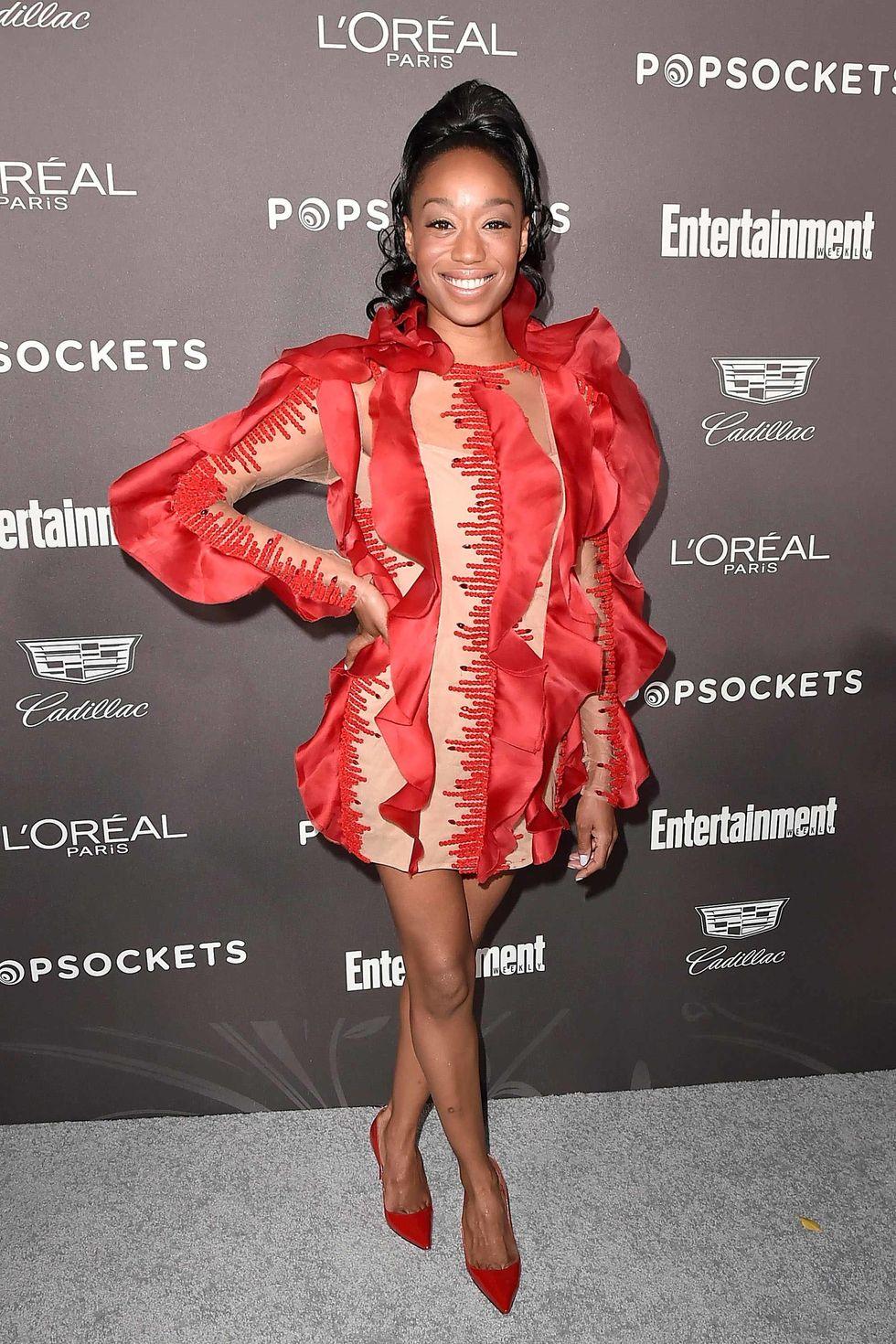 Actress Maya Lynne Robinson at the Entertainment Weekly Pre-SAG Party Arrivals.