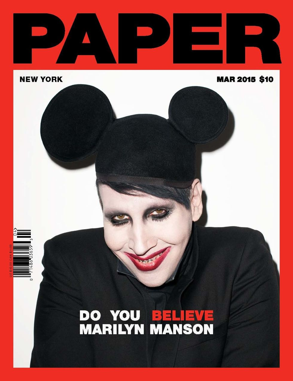 Marilyn Manson Shows Us His Soft Side Paper